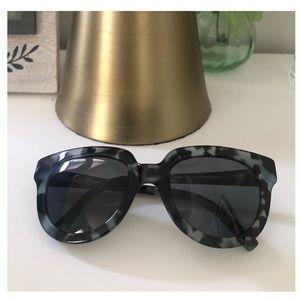 Warby Parker Banks blue tortoise sunglasses